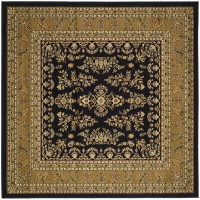 Ottis Black/Tan Area Rug Rug Size: Square 8