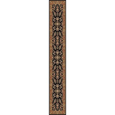 Ottis Black/Tan Area Rug Rug Size: Runner 23 x 22