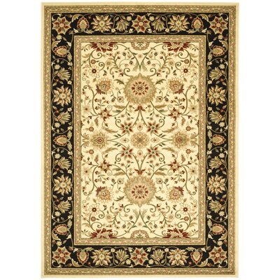 Ottis Ivory/Black Area Rug Rug Size: Rectangle 33 x 53