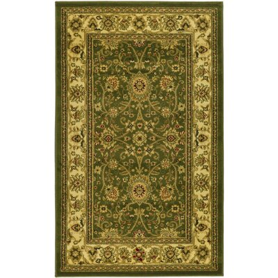 Ottis Sage/Ivory Persian Area Rug Rug Size: Rectangle 33 x 53