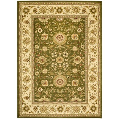 Ottis Sage/Ivory Persian Area Rug Rug Size: Rectangle 53 x 76