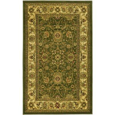 Ottis Sage/Ivory Persian Area Rug Rug Size: 33 x 53