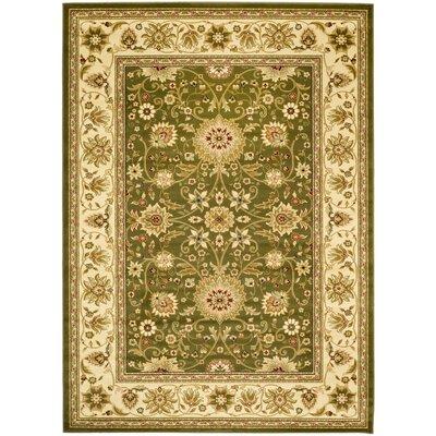 Ottis Sage/Ivory Persian Area Rug Rug Size: 53 x 76