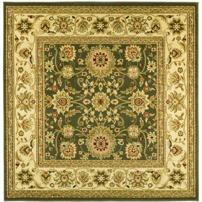 Ottis Sage/Ivory Persian Area Rug Rug Size: Square 6