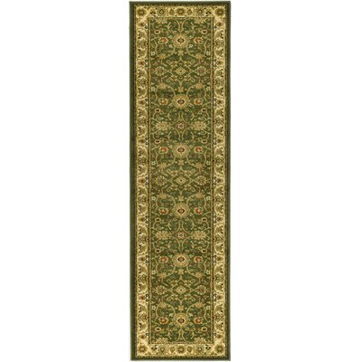 Ottis Sage/Ivory Persian Area Rug Rug Size: Runner 23 x 14