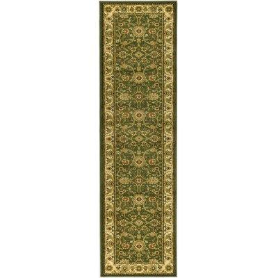 Ottis Sage/Ivory Persian Area Rug Rug Size: Runner 2'3