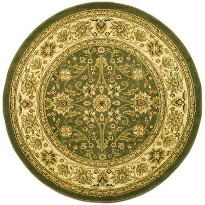 Ottis Sage/Ivory Persian Area Rug Rug Size: Round 8