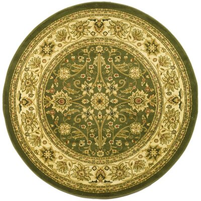 Ottis Sage/Ivory Persian Area Rug Rug Size: Round 53
