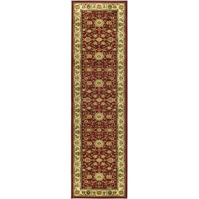 Ottis Red/Ivory Persian Area Rug Rug Size: Runner 23 x 14
