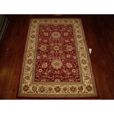 Ottis Red/Ivory Persian Area Rug Rug Size: Rectangle 53 x 76