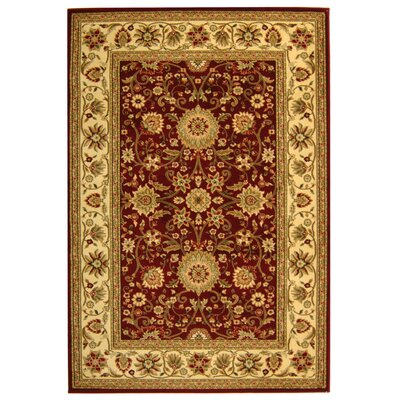 Ottis Red/Ivory Persian Area Rug Rug Size: 53 x 76