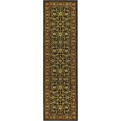 Ottis Black/Red Area Rug Rug Size: Runner 23 x 16