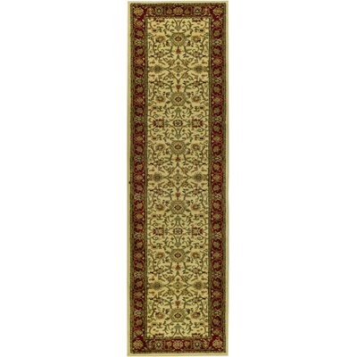 Ottis Ivory/Red Area Rug Rug Size: Runner 2'3