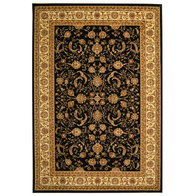 Ottis Black Area Rug Rug Size: Rectangle 53 x 76