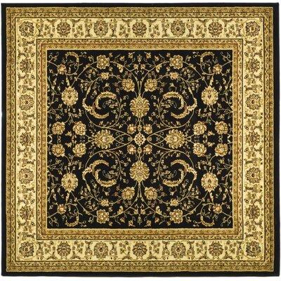 Ottis Black Area Rug Rug Size: Square 6