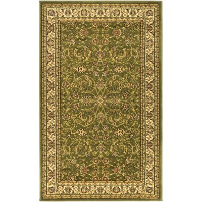 Ottis Sage/Ivory Area Rug Rug Size: Rectangle 6 x 9