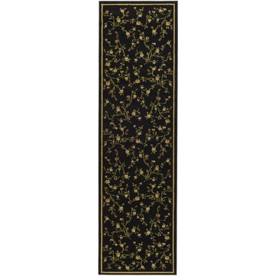 Ottis Black/Green Area Rug Rug Size: Runner 23 x 20