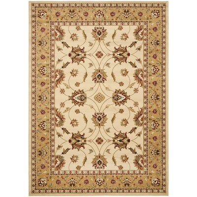 Ottis Ivory/Beige Area Rug Rug Size: Rectangle 53 x 76