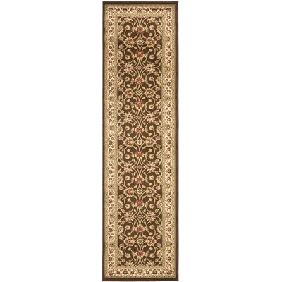 Ottis Brown/Ivory Persian Area Rug Rug Size: Runner 23 x 16
