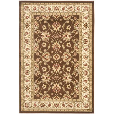 Ottis Brown/Ivory Persian Area Rug Rug Size: 4 x 6