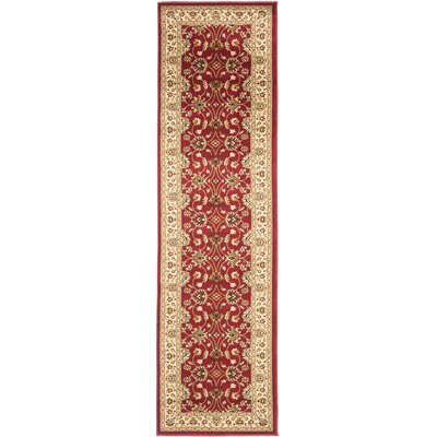Ottis Red/Ivory Persian Area Rug Rug Size: Runner 23 x 16
