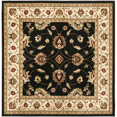 Ottis Black/Ivory Persian Area Rug Rug Size: Square 67