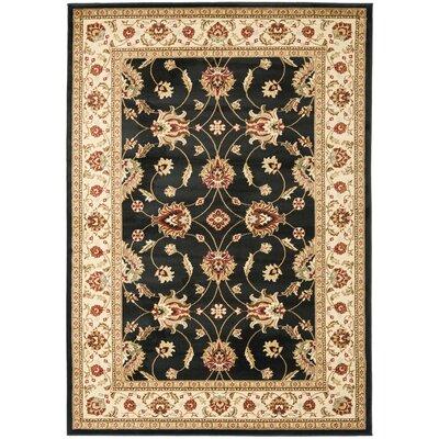 Ottis Black/Ivory Persian Area Rug Rug Size: 67 x 96