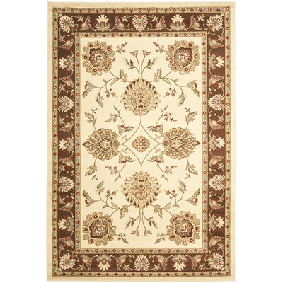Ottis Ivory/Brown Area Rug Rug Size: Rectangle 33 x 53