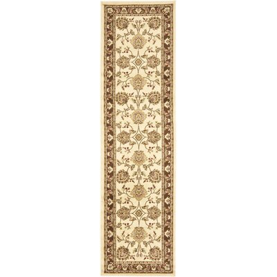 Ottis Ivory/Brown Area Rug Rug Size: Runner 23 x 16