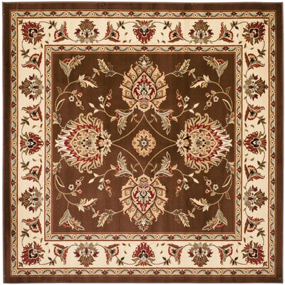 Ottis Brown/Ivory Area Rug Rug Size: Square 67