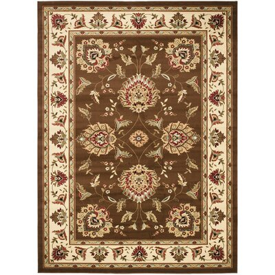 Ottis Brown/Ivory Area Rug Rug Size: Rectangle 8 x 11