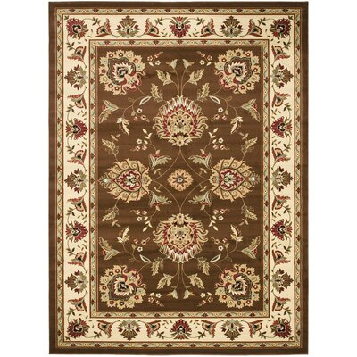 Ottis Brown/Ivory Area Rug Rug Size: 89 x 12