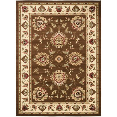 Ottis Brown/Ivory Area Rug Rug Size: Rectangle 67 x 96