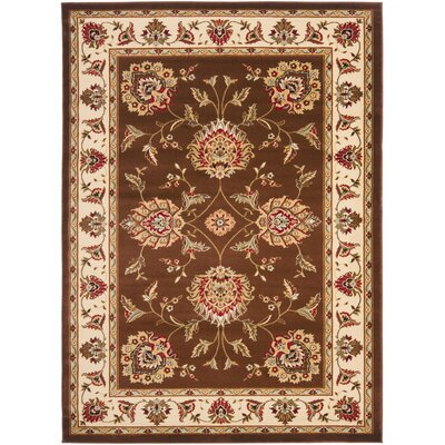 Ottis Brown/Ivory Area Rug Rug Size: Rectangle 53 x 76