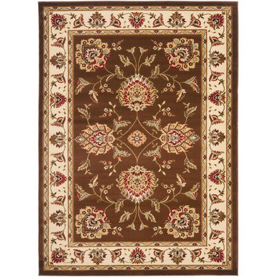 Ottis Brown/Ivory Area Rug Rug Size: Rectangle 4 x 6