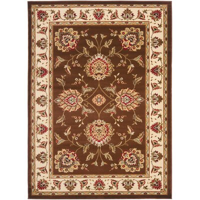 Ottis Brown/Ivory Area Rug Rug Size: 33 x 53