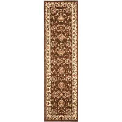 Ottis Brown/Ivory Area Rug Rug Size: Runner 23 x 8