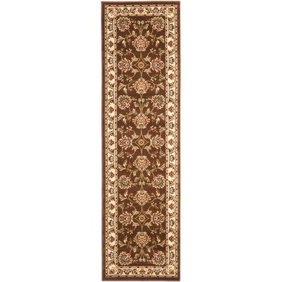 Ottis Brown/Ivory Area Rug Rug Size: Runner 23 x 12