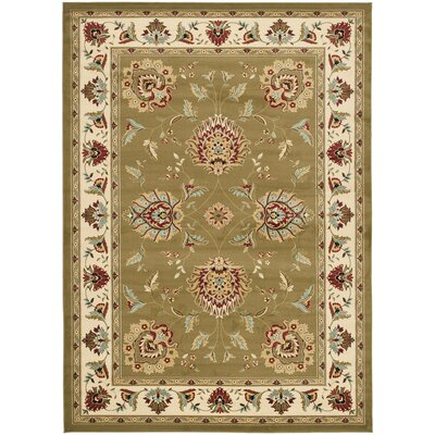Ottis Green/Ivory Area Rug Rug Size: Rectangle 8 x 11