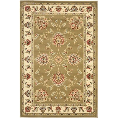 Ottis Green/Ivory Area Rug Rug Size: Rectangle 33 x 53
