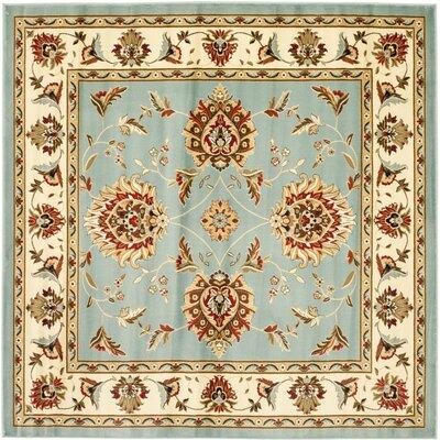 Ottis Blue/Ivory Area Rug Rug Size: Square 6'7