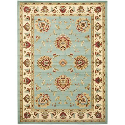 Ottis Blue/Ivory Area Rug Rug Size: Rectangle 67 x 96