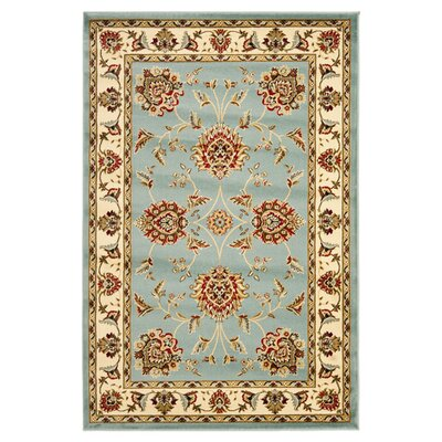 Ottis Blue/Ivory Area Rug Rug Size: Rectangle 4 x 6