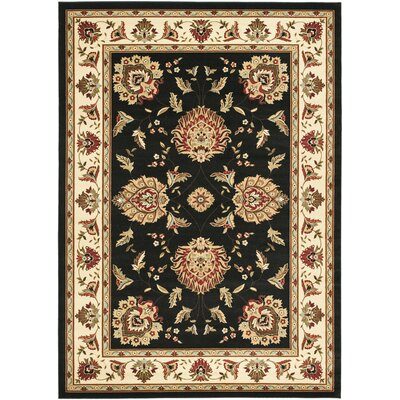 Ottis Black/Ivory Area Rug Rug Size: Rectangle 8 x 11