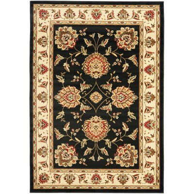 Ottis Black/Ivory Area Rug Rug Size: Rectangle 33 x 53