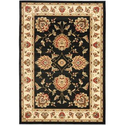 Ottis Black/Ivory Area Rug Rug Size: 33 x 53