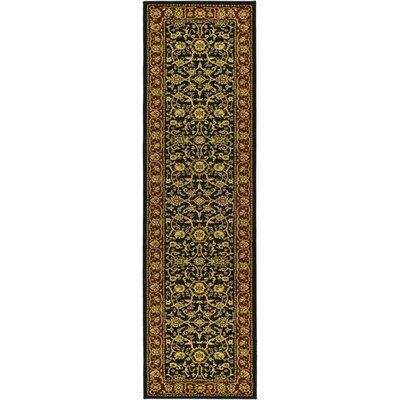 Ottis Black/Red Area Rug Rug Size: Runner 23 x 20