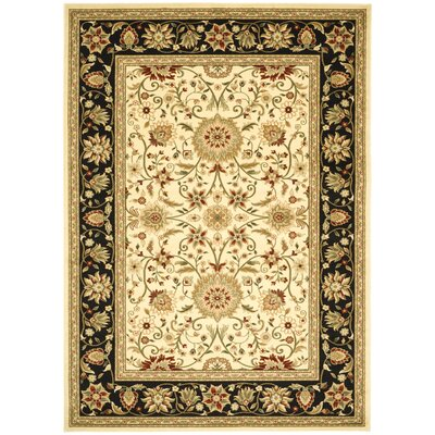 Ottis Ivory/Black Area Rug Rug Size: Rectangle 9 x 12