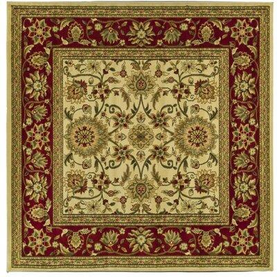 Ottis Ivory/Red Rug Rug Size: Square 8