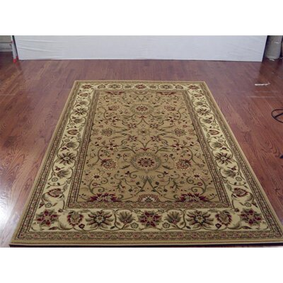 Ottis Beige/Ivory Area Rug Rug Size: Rectangle 53 x 76